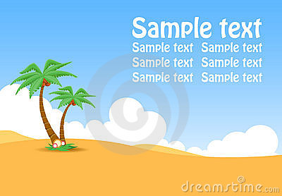 Oasis. Sample text