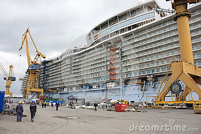 Oasis of the Seas construction Editorial Photography