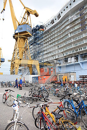 Oasis of the Seas construction Editorial Stock Photo