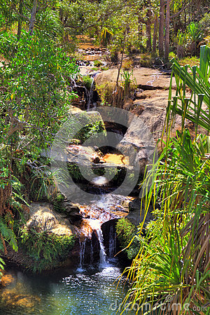 Free Oasis Waterfall Stock Image - 40644691