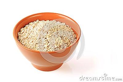 Oat in a bowl