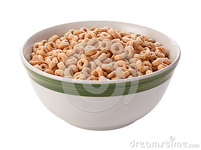 Oat Cereal Isolated with clipping path