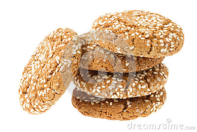 Oat cookies with sesame