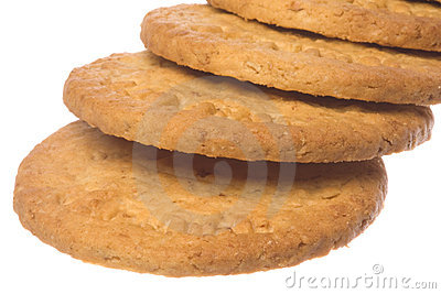 Oatmeal Biscuits Macro Isolated