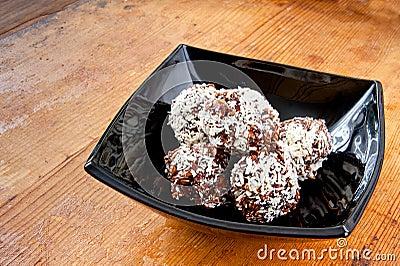 Oatmeal chocolate balls