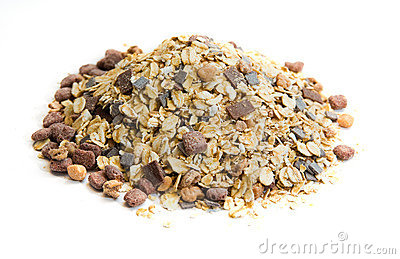 Oatmeal with corn flakes
