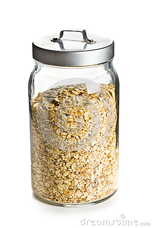 Free Oatmeal In A Jar Royalty Free Stock Photo - 29875475