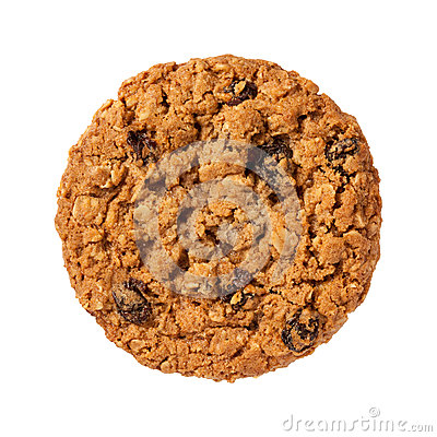 Free Oatmeal Raisin Cookie Isolated Stock Photography - 45640472