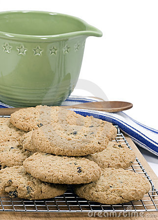 Oatmeal Raisin Cookies - vertical