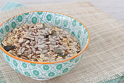 Oats with nuts and seeds