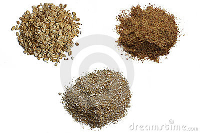 Oats, oat bran and grounded flax