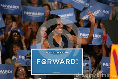 Мишель Obama Редакционное Фото