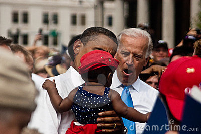 Obama Biden Editorial Image