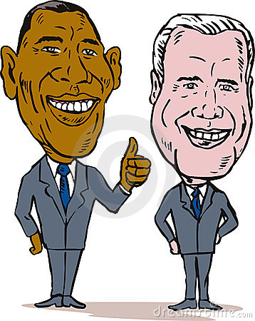 Obama and Biden Editorial Photo