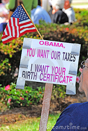 Obama Birther Protestor Editorial Photography