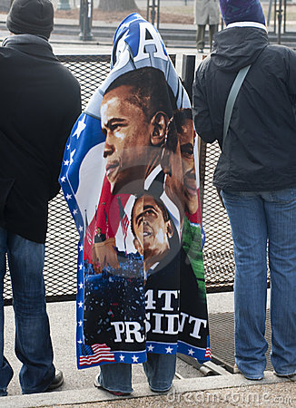 Obama Blanket Editorial Photo