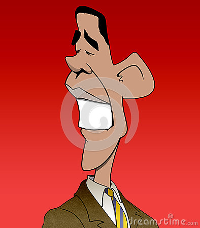 Obama Caricature Editorial Stock Image