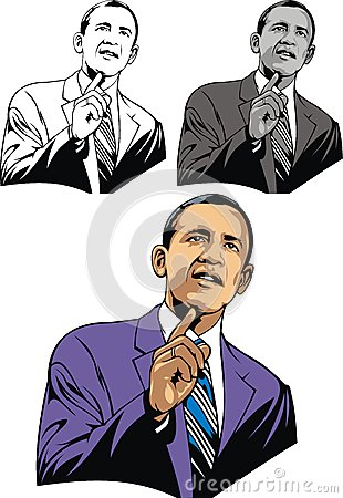Obama caricature Editorial Photography