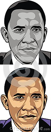 Obama caricature Editorial Photo