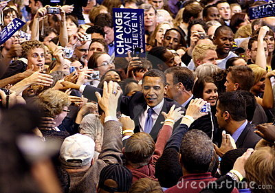 Obama Declares Victory In St. Paul, MN Editorial Stock Photo