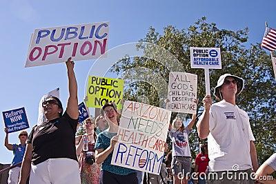 Obama Healthcare Reform Demonstration Suporters Editorial Image