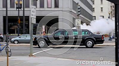 Obama on the move II. Editorial Photo