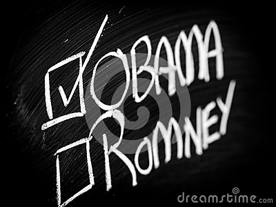 Obama and Romney choice Editorial Photography