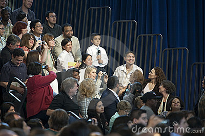 Obama Town Hall Editorial Stock Photo