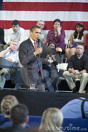 Obama Town Hall Editorial Photo