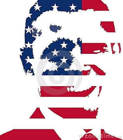 Obama USA flag vector illustration Editorial Image