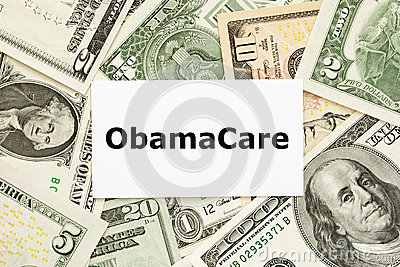 ObamaCare Concept Editorial Stock Image