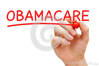 ObamaCare Red Marker Editorial Stock Photo