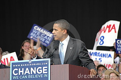 Obama's rally at the Nissan Pavilion rally Editorial Photo