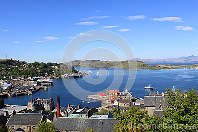 Oban Bay, Kerrera Island and Mull, Scotland Editorial Photography