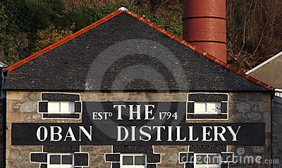 The Oban Distillery Editorial Stock Photo