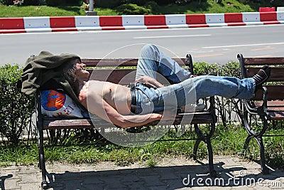 Obdachlos Redaktionelles Stockfotografie