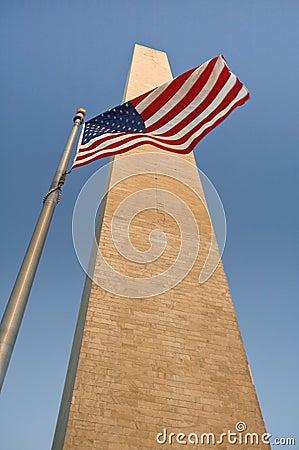 Obelisk and flag