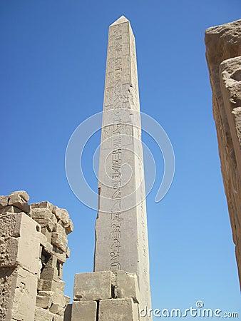 An Obelisk at Karnak Temple in Egypt