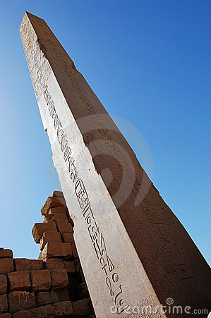 Obelisk at Luxor Temple in Egypt.