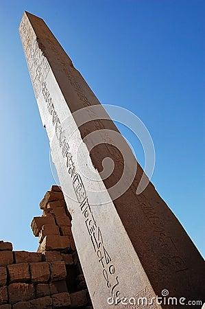 Obelisk at Luxor Temple in Egypt.