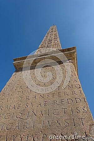 Obelisk Piazza del Popolo Rome Italy