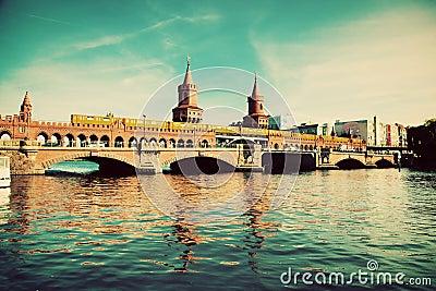 The Oberbaum Bridge in Berlin, Germany
