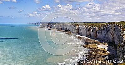 Obere Normandie-Küste