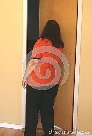 Obese kvinna