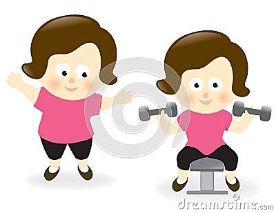 Obese kvinna för och after