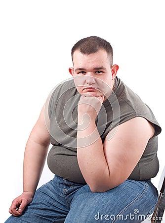 Free Obese Man Royalty Free Stock Image - 5422686