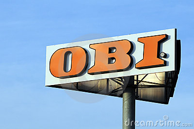 Obi sign Editorial Image