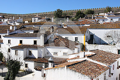 Obidos within the castle wall