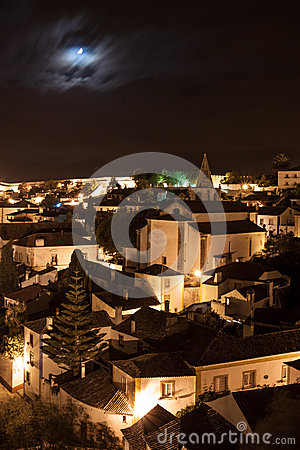 Obidos by night