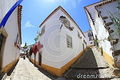 Obidos streets, Portugal